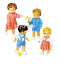PDF Digital Download Vintage Knitting Pattern Doll Clothes 10,12,14 and 16'' Baby Dolls Toy Toys